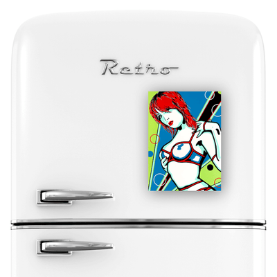 Buy SEDUCE ME Erotic Art Fridge Magnet | Home Decor Kitchen Gadget | Ravenged by Artist Anita Nevar.