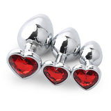 3PC Hearts & Pleasure Anal Plug Set