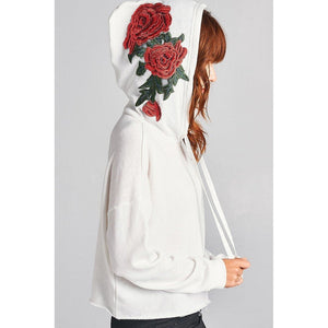 Floral Patch Hoodie (Off White)