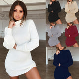 Midi Knitted Sweater Dress Women Plus Size