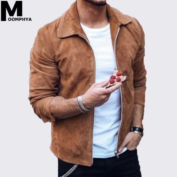 Long sleeve Suede Fabric jacket