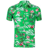 Casual Beach Hawaii Shirts Fit Slim