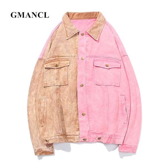 Denim Jackets Autumn Loose Streetwear