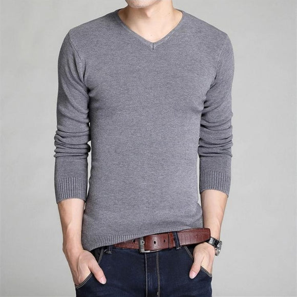 V-neck sweater bottoming  long-sleeved sweater