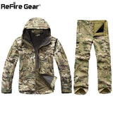 Jacket Set Men Army Waterproof Warm Camo Clothes