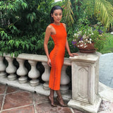 bandage dress Runway orange