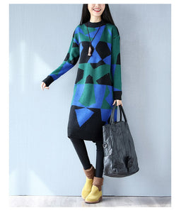 r Large Size Ladies Knitted Sweaters