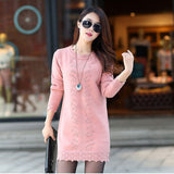 Warm Long Knitted Sweater Knitwear Poncho
