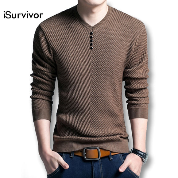 Casual Fashion Slim Fitted Knitted Sweater