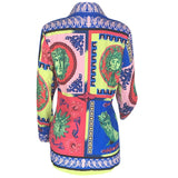 Dashiki Printed Blouse Long Shirt