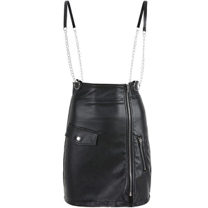 High Street Metal Chain Patchwork Skirts