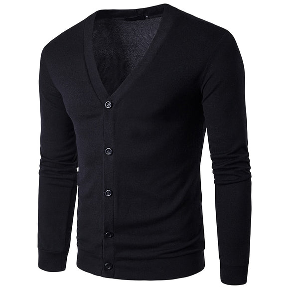 High Quality V-Neck Thin Cardigan Casual Sweater