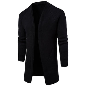Solid Color  Big Pocket Slim Cardigan
