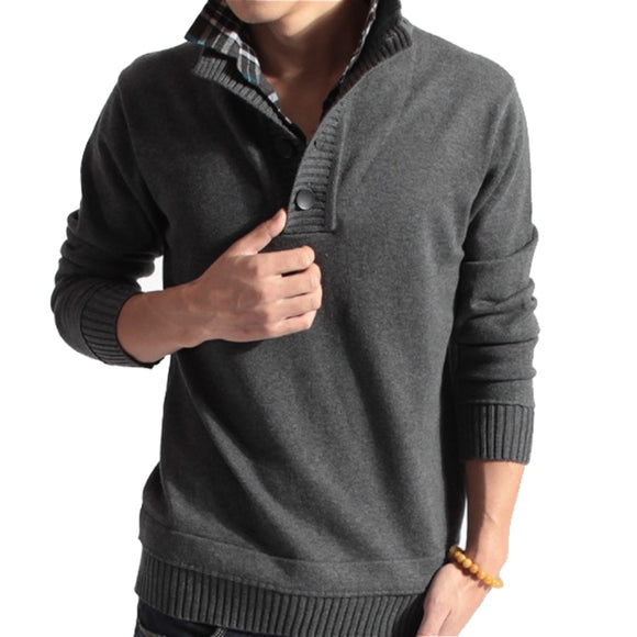 Casual Slim Two Pieces Of Grid Solid Color Sweater