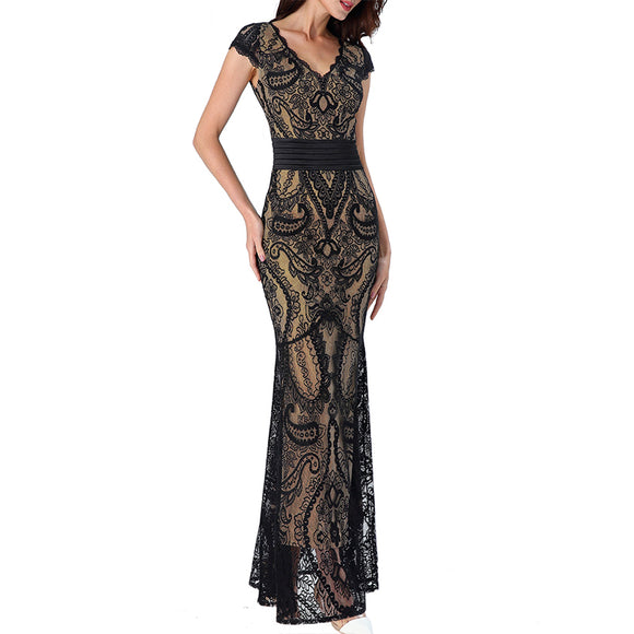 V Neck Formal Evening Gala Gown