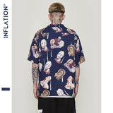 Hawaiian Casual Abstract  Printed Beach Shirts