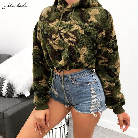 Adjustable Pullover Thick Loose Women Hoodies