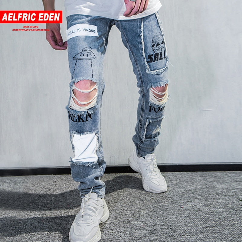 0094dbf7 Skinny Ripped Vintage Biker Jogger Distressed Jeans – Kreyative Shopping