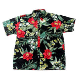 Hawaiian Men's Fruit Printing Casual Banana Beach Short Sleeves Cotton Shirts
