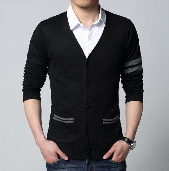 V neck Cardigan men Knitwear Sweater