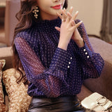 loose blouse office lady clothing