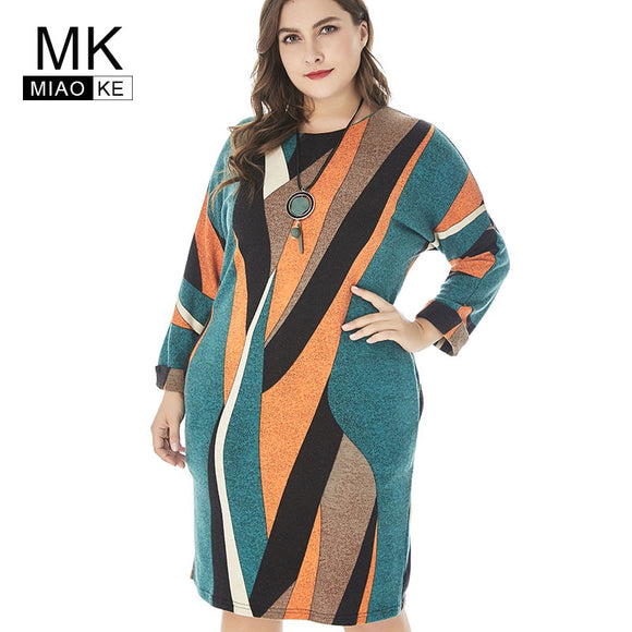 Plus Size Club Knit office Midi Mom dresses