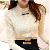 Crochet Blouse Lace Shirt