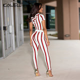 Elastic Two Piece  High Waist Jumpsuits