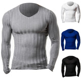 Long Sleeve Knitted Muscle Sweater Gyms