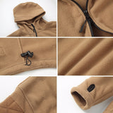 Soft Shell Fleece Hoody Jacket Men Thermal Clothing