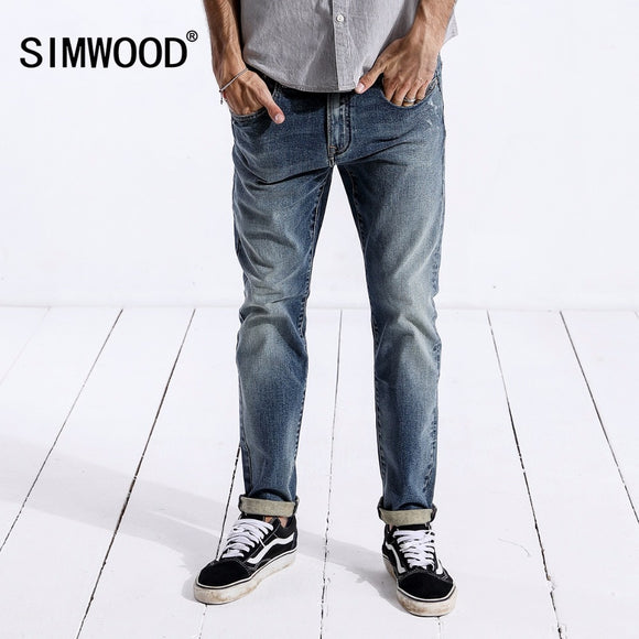 Denim Pants Skinny Trousers Cotton Classic Straight Jeans