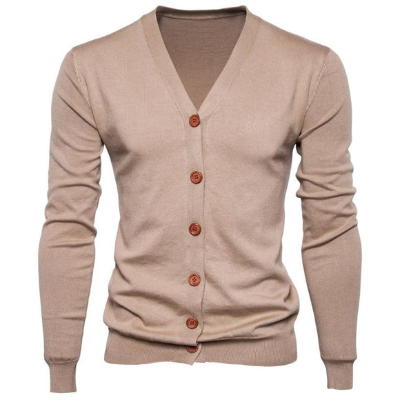 Casual Button V-neck Sweaters