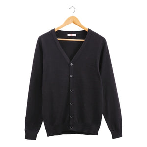 Basic Solid O-Neck Cardigans Sweater