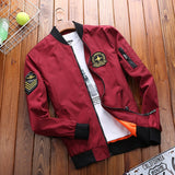 Military Coat Men Fashion Stand Collar Fitness Men Jacket