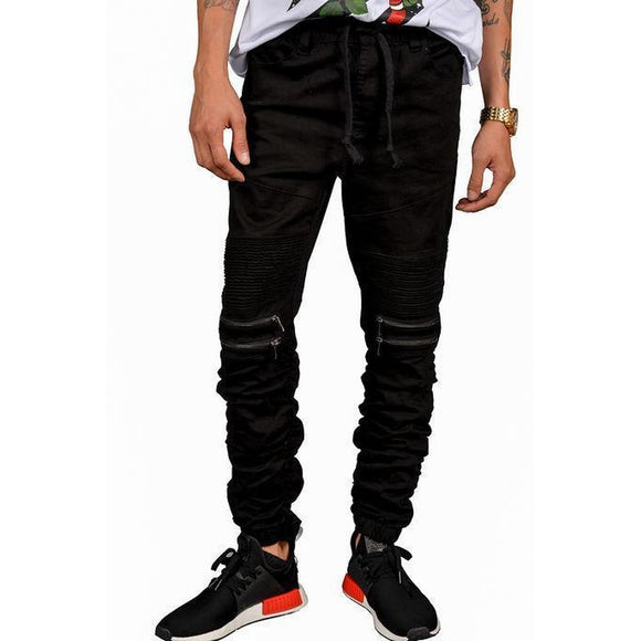 Mulisha Stacked Leg Joggers (Black)