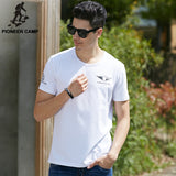 cotton elastic breathable t-shirt  white thin print short sleeve