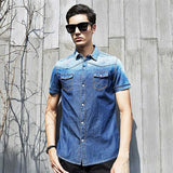 Pioneer Camp fashion short sleeve shirt men brand clothing summer