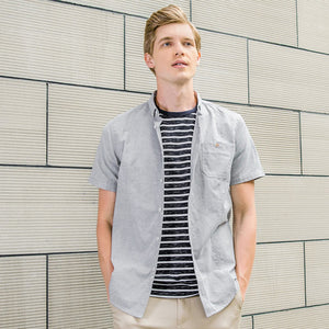 men brand clothing solid summer shirt male top quality