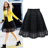 Fashion Organza Skirts Zipper faldas