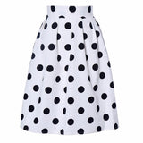 Black Polka Dot Retro Puff Skirts