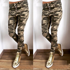 Candy Pants Pencil Trousers Casual Camouflag