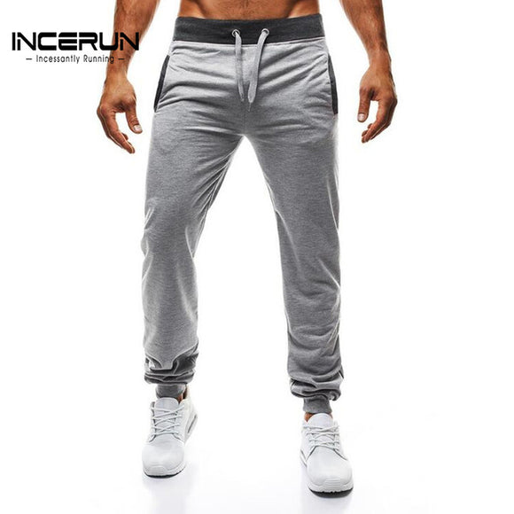 Men Slim Solid Color Workout Pants  2XL