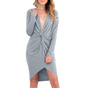 V Neck Beach Party Casual Cotton Above Knee Dress