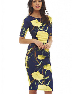 Sheath 28 Styles Floral Print Women Dress