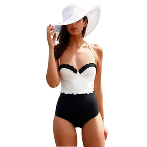 Sexy Women One Piece Swimsuit Push Up Padded Bikini