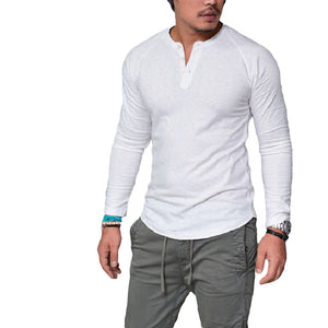 New Casual T-Shirt Men Long Sleeve T Shirt
