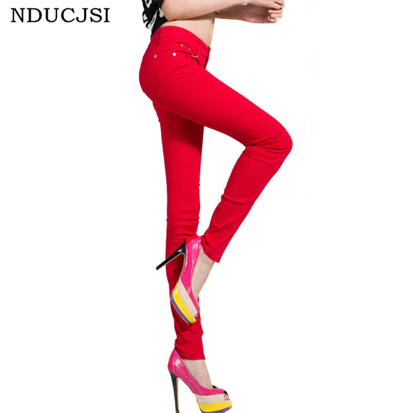 Cotton Pencil Legins Femme Skinny Jeans