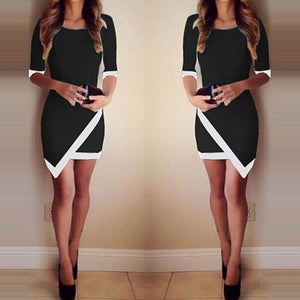 Women Summer Bandage Bodycon Evening Party Irregular Mini Dress