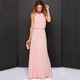 Maxi Vintage Long Beach Boho Chiffon Dress