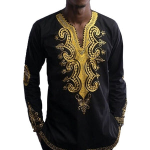 2018 Men's Shirts African Clothing Shirt Plus Size 3XL